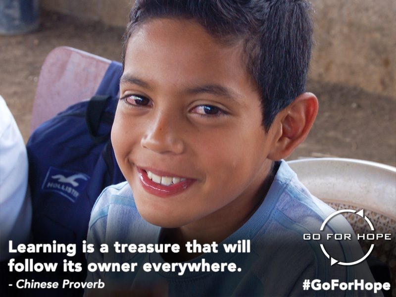 Learning is a treasure that will follow its owner everywhere. - Chinese Proverb | Go For Hope - Providing the fundamental right of education to children in Nicaragua