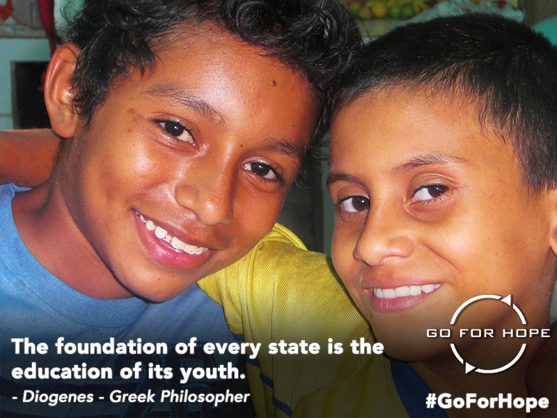 The foundation of every state is the education of its youth. - Diogenes, Greek Philosopher | Go For Hope - Providing the fundamental right of education to children in Nicaragua